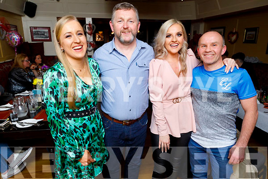 Patrize Brosnan, Mike O'Leary, Rachel Lynch and Danny Roche enjoying the evening out in the Brogue Inn on Saturday