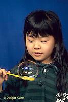 BH22-012x  Bubbles - girl making bubbles