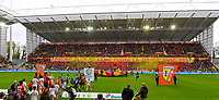 20191102 – Lens , France : Lens Supporters and fans in tribune Marek pictured with a Tifo during a French Ligue 2 soccer game between Racing Club de Lens and FC Lorient , a football game on the 13th matchday in the French second league, on saturday 2 nd of November 2019 at the Stade Bollaert Delelis in Lens , France . PHOTO SPORTPIX.BE   DAVID CATRY