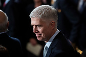 WASHINGTON, DC - DECEMBER 3 : Supreme Court Associate Justice Neil M. Gorsuch, waits for the arrival of Former president George H.W. Bush to lie in State at the U.S. Capitol Rotunda on Capitol Hill on Monday, Dec. 03, 2018 in Washington, DC. (Photo by Jabin Botsford/Pool)