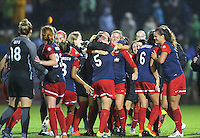 Boyds, MD - Friday Sept. 30, 2016: Washington Spirit celebration after a National Women's Soccer League (NWSL) semi-finals match between the Washington Spirit and the Chicago Red Stars at Maureen Hendricks Field, Maryland SoccerPlex.