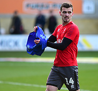 Lincoln City's Harry Toffolo during the pre-match warm-up<br /> <br /> Photographer Andrew Vaughan/CameraSport<br /> <br /> The EFL Sky Bet League Two - Cambridge United v Lincoln City - Saturday 29th December 2018  - Abbey Stadium - Cambridge<br /> <br /> World Copyright © 2018 CameraSport. All rights reserved. 43 Linden Ave. Countesthorpe. Leicester. England. LE8 5PG - Tel: +44 (0) 116 277 4147 - admin@camerasport.com - www.camerasport.com