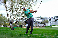 Hideki Matsuyama (JPN) on the 11th fairway during the 3rd round of the Waste Management Phoenix Open, TPC Scottsdale, Scottsdale, Arisona, USA. 02/02/2019.<br /> Picture Fran Caffrey / Golffile.ie<br /> <br /> All photo usage must carry mandatory copyright credit (© Golffile | Fran Caffrey)