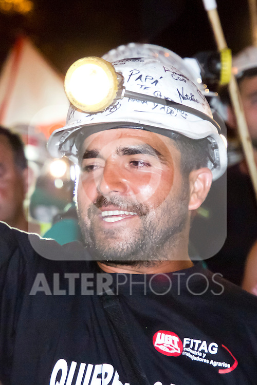 10.07.2012. Spanish coal miners during the night march through Madrid (Alterphotos/Marta Gonzalez)