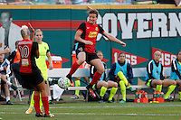 Rochester, NY - Saturday July 09, 2016: Elizabeth Eddy during a regular season National Women's Soccer League (NWSL) match between the Western New York Flash and the Seattle Reign FC at Frontier Field.