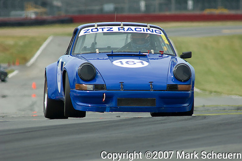 Ron Branom in his Zotz Racing 1973 Porsche 911 RSR at the Vintage Grand Prix of Mid-Ohio, 2007.