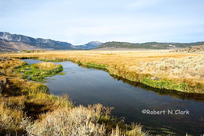 Hot Creek fly fishing area near Mammoth