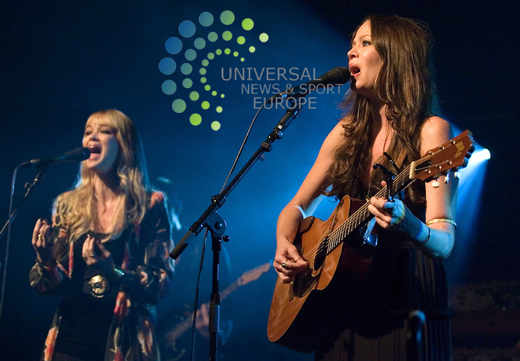 The Pierces, sisters Catherine and Allison playing live at the O2 ABC in Glasgow on Saturday 8th October 2011.. .Pictures: Peter Kaminski/Universal News and Sport (Europe)2011