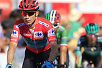 Race leader Red Jersey Miguel Angel Lopez Moreno (COL) Astana Pro Team crosses the finish line and loses his lead at the end of Stage 2 of La Vuelta 2019 running 199.6km from Benidorm to Calpe, Spain. 25th August 2019.<br /> Picture: Eoin Clarke | Cyclefile<br /> <br /> All photos usage must carry mandatory copyright credit (© Cyclefile | Eoin Clarke)