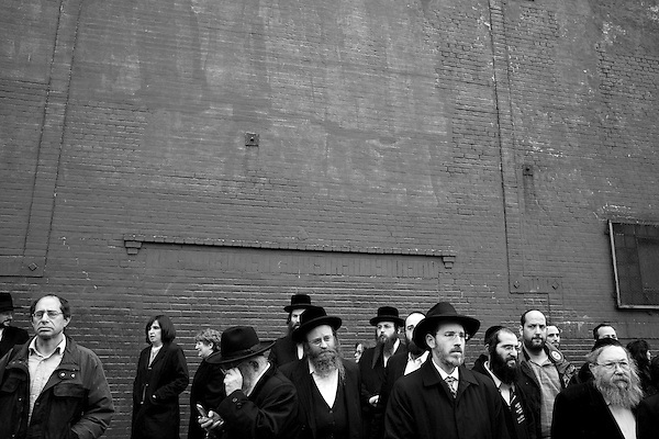 Wednesday, April 18,  2007, Brooklyn, New York..A funeral was held in Brooklyn for Professor Librescu, a holocaust survivor and teacher at Virginia Tech, who was killed in the shootings on Monday.. Mourners lined the block as a car transported the body to the airport for its trip to Israel for burial.