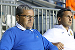28 September 2013: Fort Lauderdale head coach Gunter Kronsteiner (AUT) (left) with assistant coach Raoul Voss (GER) (right). The Carolina RailHawks played the Fort Lauderdale Strikers at WakeMed Stadium in Cary, North Carolina in a North American Soccer League Fall 2013 Season regular season game. Carolina won the game 2-0.