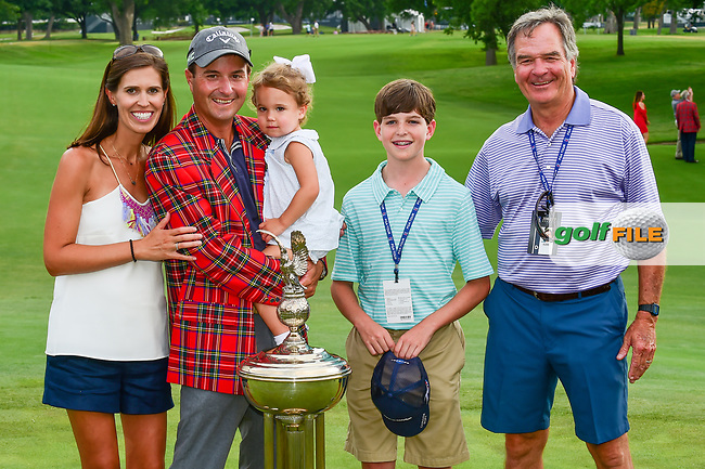Kevin Kisner (USA) and his family with the trophy for winning the 2017 Dean &amp; Deluca Invitational, at The Colonial, Ft. Worth, Texas, USA. 5/28/2017.<br /> Picture: Golffile | Ken Murray<br /> <br /> <br /> All photo usage must carry mandatory copyright credit (&copy; Golffile | Ken Murray)
