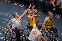 BASKETBAL: HEERENVEEN: 11-04-2015, Finales van de landelijke divisie A, B en C Rolstoelbasketbal, Daphne van den Broek (#9), ©foto Martin de Jong