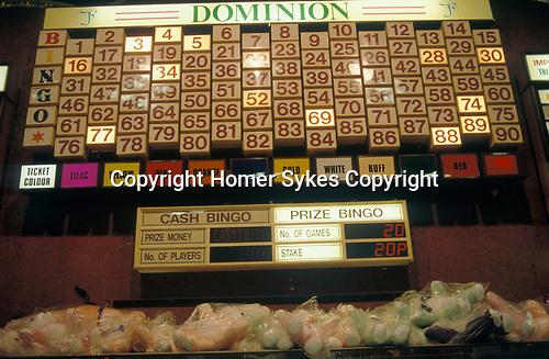 Bingo UK north London. 1990s 90s