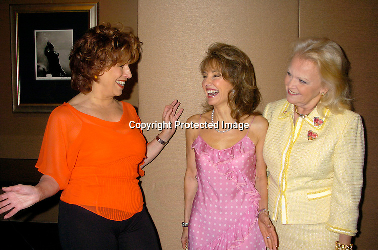 Joy Behar, Susan Lucci and Jane Pontarelli..at The Rose Luncheon benefitting Little Flower Children's ..Services on June 15, 2004 at the Mandarin Oriental Hotel...Photo by Robin Platzer, Twin Images. ..Jane Pontarelli was the Chairwoman of the event.