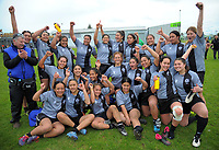 The victorious St Mary's team poses for a group photo after the 2017 Hurricanes Secondary Schools girls rugby union final between Manukura College and St Mary's College at Arena Manawatu in Palmerston North, New Zealand on Saturday, 2 September 2017. Photo: Dave Lintott / lintottphoto.co.nz