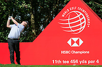 Robert Macintyre (SCO) on the 11th tee during round 1 at the WGC HSBC Champions, Sheshan Golf Club, Shanghai, China. 31/10/2019.<br /> Picture Fran Caffrey / Golffile.ie<br /> <br /> All photo usage must carry mandatory copyright credit (© Golffile | Fran Caffrey)