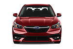 Car photography straight front view of a 2020 Subaru Legacy Premium 4 Door Sedan Front View