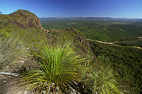 Australia, Queensland, Glasshouse Mtns., view from the top of Mt. Ngungun