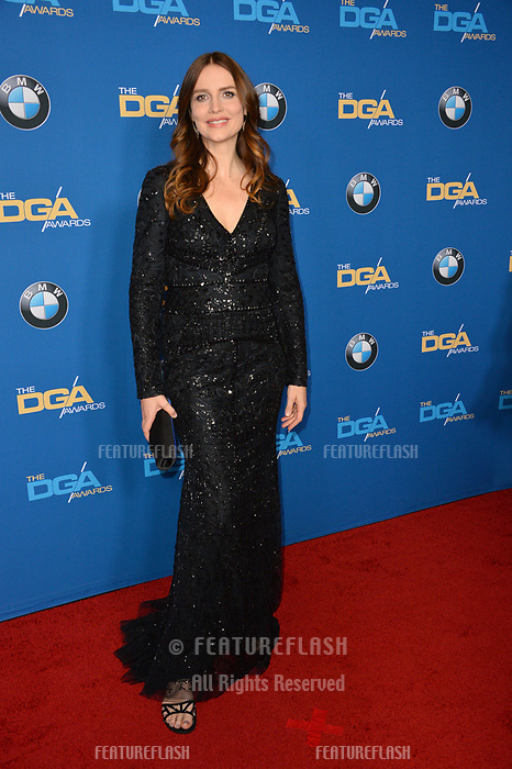 Saffron Burrows at the 70th Annual Directors Guild Awards at the Beverly Hilton Hotel, Beverly Hills, USA 03 Feb. 2018<br /> Picture: Paul Smith/Featureflash/SilverHub 0208 004 5359 sales@silverhubmedia.com