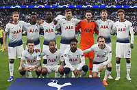 The Tottenham team line-up<br /> <br /> Photographer Rob Newell/CameraSport<br /> <br /> UEFA Champions League - Tottenham Hotspur v Ajax - Tuesday 30th April 2019 - White Hart Lane - London<br />  <br /> World Copyright © 2018 CameraSport. All rights reserved. 43 Linden Ave. Countesthorpe. Leicester. England. LE8 5PG - Tel: +44 (0) 116 277 4147 - admin@camerasport.com - www.camerasport.com