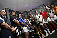 PICTURE BY VAUGHN RIDLEY/SWPIX.COM - Rugby League - Rugby League World Cup 2008 - Press Launch - Leeds, England - 06/11/07...Copyright - Simon Wilkinson - 07811267706..Qualified Teams lineup for photos with The Rugby League World Cup.