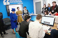 08 March 2016 - London, England - Queen Elizabeth II meets people being helped by the Prince's Trust at the Prince's Trust Centre in Kennington in London. Photo Credit: Alpha Press/AdMedia