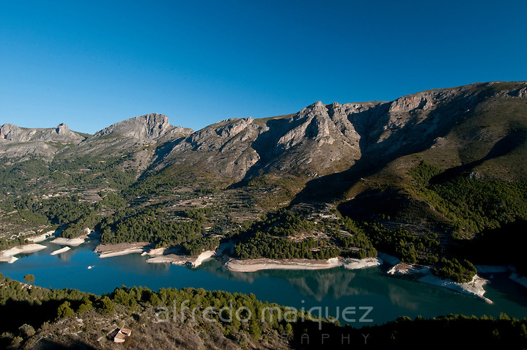 Sierra de Aixorta and Guadalest reservoir, Province Alicante, Spain,Europe