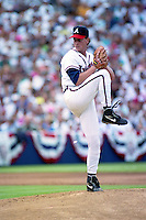 Atlanta Braves pitcher Tom Glavine during the Major League Baseball All-Star Game at Jack Murphy Stadium  in San Diego, California.  (MJA/Four Seam Images)