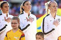 OTTAWA, CANADA, 26.06.2015 - CHINA-EUA - Solo dos Estados Unidos durante partida contra a China, válido pelas quartas-de-finais da Copa do Mundo de Futebol Feminino no Estádio Lansdowne em Ottawa no Canada nesta sexta-feira, 26. (Foto: William Volcov/Brazil Photo Press)