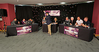 Pictured: Question of Sport game Thursday 08 April 2016<br />Re: Zimkids dinner at the Liberty Stadium, Swansea, UK