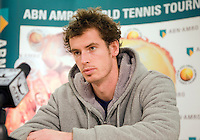 14-2-09,Rotterdam,ABNAMROWTT, Persconferentie Andy Murray