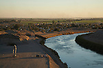 View of the US/Mexico border at Andrade, California and the All-American canal.