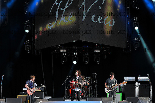 THE VIEW<br />  - L-R: Pete Reilly, Kyle Falconer, Steven Morrison, Keiren Webster - performing live at BT London Live 2012 Olympic concerts held in Hyde Park London UK - <br /> 11 Aug 2012.  <br /> Photo credit: George Chin/IconicPix