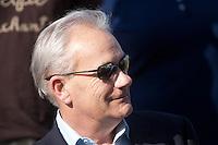 April 15, 2012. Jerry Hollendorfer after Capital Plan and Brice Blanc win the 64th running of the Santa Barbara Handicap at Santa Anita Park in Arcadia, CA.