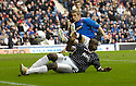 11/11/2006       Copyright Pic: James Stewart.File Name :sct_jspa04_rangers_v_dunfermline.BAMBA CHALLENGES STEVEN SMITH.James Stewart Photo Agency 19 Carronlea Drive, Falkirk. FK2 8DN      Vat Reg No. 607 6932 25.Office     : +44 (0)1324 570906     .Mobile   : +44 (0)7721 416997.Fax         : +44 (0)1324 570906.E-mail  :  jim@jspa.co.uk.If you require further information then contact Jim Stewart on any of the numbers above.........