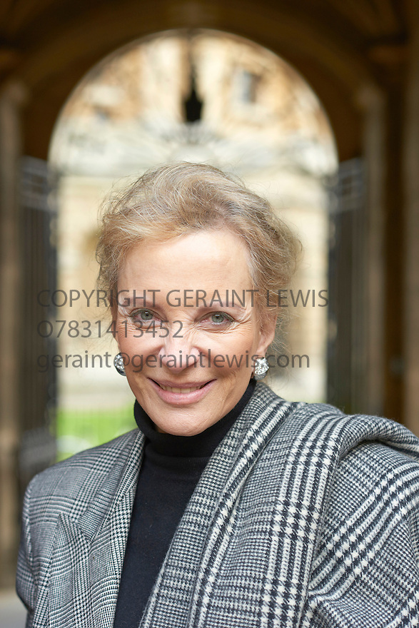 Princess Michael of Kent at the Bodleian Divinity School  at The Oxford Literary Festival  2015 .CREDIT Geraint Lewis