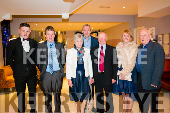 Kevin and Michael Price, Mary O'Neil, Mike Carey, John Joe O'Neil, Mary Price and Andy O'Sulivan at the Kenmare Gaa Social  at the Brookline Hotel on Friday night.