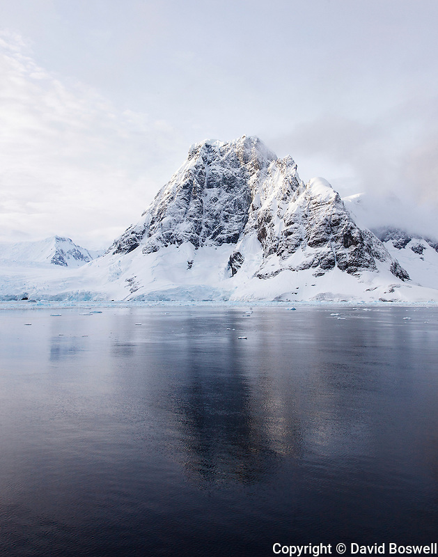 When clear, the Lemaire Channel, on the Western coast of the Antarctic Peninsula, has stunning scenery.