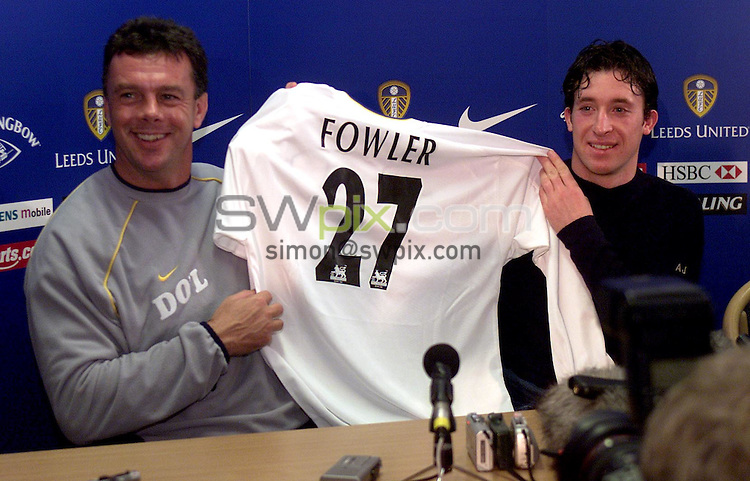 Pix, Shaun Flannery/SWpix...COPYRIGHT PICTURE>>SIMON WILKINSON>>01943 - 436649>>..David O'Leary and Robbie Fowler display his new shirt to the media.
