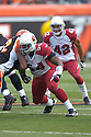 GERALD HAYES, of the Arizona Cardinals, in action during their game against the Cincinnati Bengals on November 18, 2007 in Cincinnati, Ohio...Cardinals win 35-27..SportPics