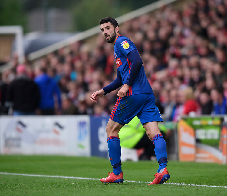 Sunderland's Conor McLaughlin<br /> <br /> Photographer Chris Vaughan/CameraSport<br /> <br /> The EFL Sky Bet League One - Lincoln City v Sunderland - Saturday 5th October 2019 - Sincil Bank - Lincoln<br /> <br /> World Copyright © 2019 CameraSport. All rights reserved. 43 Linden Ave. Countesthorpe. Leicester. England. LE8 5PG - Tel: +44 (0) 116 277 4147 - admin@camerasport.com - www.camerasport.com
