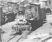 Head on view of D&amp;RGW locomotive #302 on Alamosa storage track.<br /> D&amp;RGW  Alamosa, CO  1937-1939