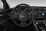 Car pictures of steering wheel view of a 2019 Jaguar XE  Base 4 Door Sedan