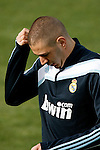 Madrid (02/03/10).-Entrenamiento del Real Madrid..Karim Benzema...© Alex Cid-Fuentes/ ALFAQUI..Madrid (02/03/10).-Training session of Real Madrid c.f..Karim Benzema...© Alex Cid-Fuentes/ ALFAQUI.