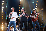 Charles Kelley, Hillary Scott and Dave Haywood of Lady Antebellum perform at LP Field during Day 2 of the 2013 CMA Music Festival in Nashville, Tennessee.