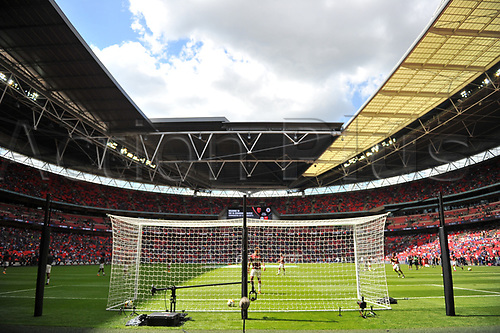 August 6th 2017, Wembley Stadium, London, England; FA Community Shield Final, Arsenal versus Chelsea; Wembley Stadium before kick off