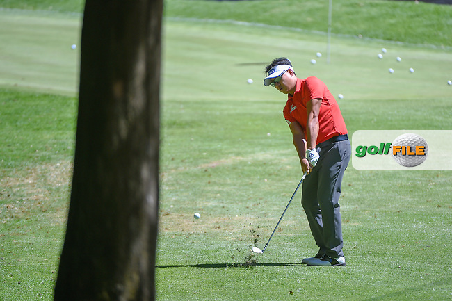 Sanghyun Park (KOR) hits from near the practice green as he chips back on to 1 during round 1 of the World Golf Championships, Mexico, Club De Golf Chapultepec, Mexico City, Mexico. 2/21/2019.<br /> Picture: Golffile | Ken Murray<br /> <br /> <br /> All photo usage must carry mandatory copyright credit (© Golffile | Ken Murray)