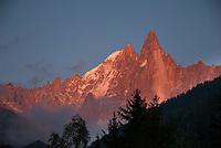 Mont Blanc Massif Sunset, September 2007