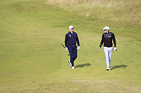 Richard McEvoy (ENG) and Philip Eriksson (SWE) during Round 3 of the Alfred Dunhill Links Championship 2019 at Kingbarns Golf CLub, Fife, Scotland. 28/09/2019.<br /> Picture Thos Caffrey / Golffile.ie<br /> <br /> All photo usage must carry mandatory copyright credit (© Golffile | Thos Caffrey)